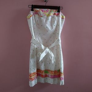 NWOT Lilly Pulitzer Strapless Dotted Dress 4R